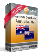 Australia + New Zealand Postcode Database