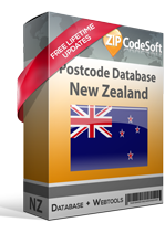 Postcode Database New Zealand