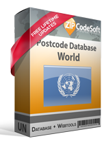 World Postcode Database