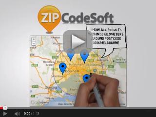 Postcodes within a radius
